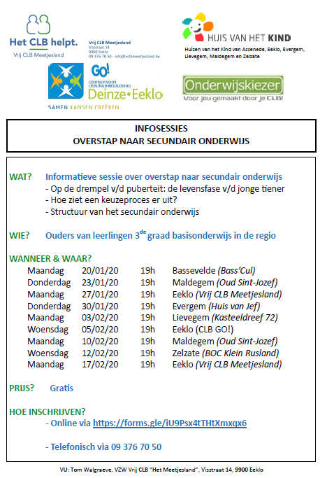 Infosessies overstap SO 2020 CLB